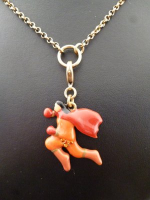 Pilgrim Charm gold-colored-red metal