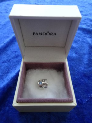 Pandora Charm silver-colored-steel blue