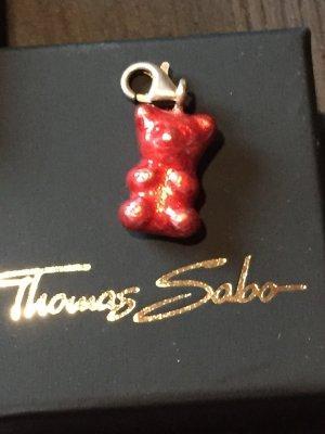 Thomas Sabo Breloque argenté-rouge foncé