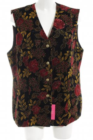 Charmant Waistcoat flower pattern vintage look
