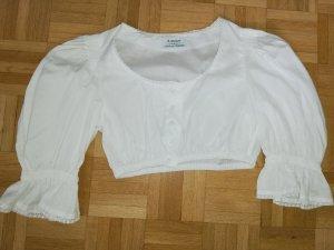 H.Moser Folkloristische blouse wit Katoen