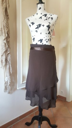 H&M Flounce Skirt brown-dark brown