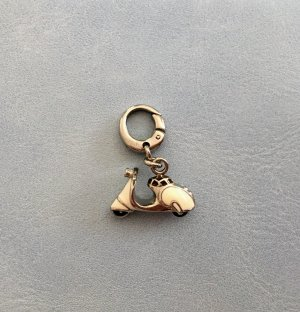 Fossil Charm silver-colored-white