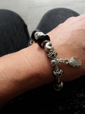 Charms/Beads  Armband mit 925er Silber versilbert