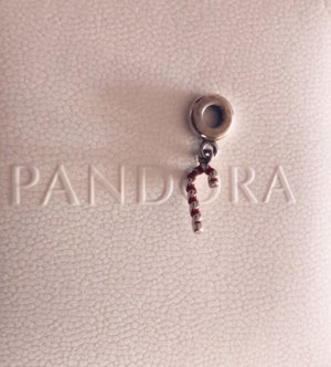 Pandora Charm silver-colored-red