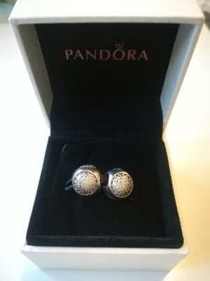 Pandora Dije gris claro plata verdadero