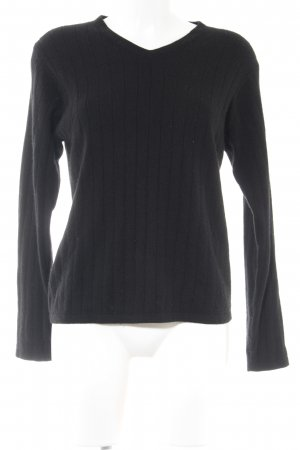 Charter Club Strickpullover schwarz Casual-Look