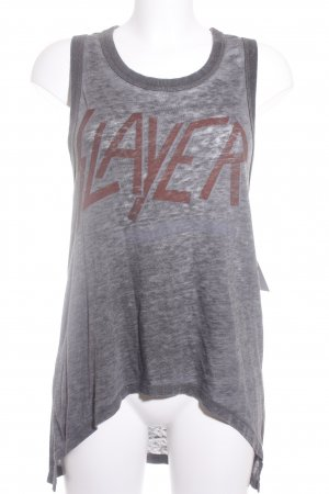 Chaser Longtop grau-hellrot Schriftzug gedruckt Casual-Look