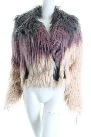 Chasor Fake Fur Jacket color gradient fluffy