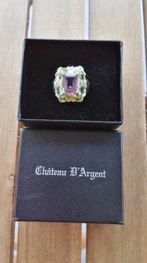 Anello d'argento malva-verde pallido Argento