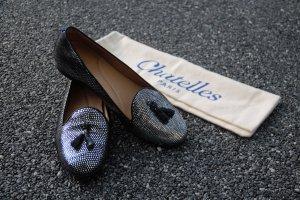 Chatelle's Paris Loafer, Silber gepunktet aus Leder, 37, Damen, wie neu