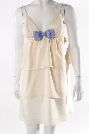 Babydoll Dress cream-cornflower blue