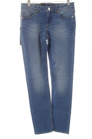 Cheap Monday 7/8 Jeans blau-wollweiß Washed-Optik