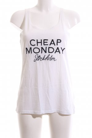 Cheap Monday Basic Top white printed lettering casual look