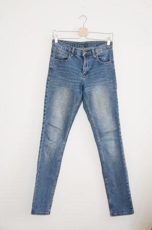 Cheap Monday Jeans carotte bleuet coton