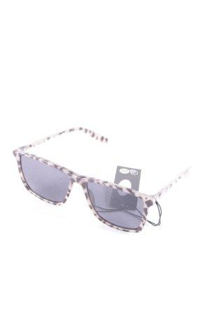 Cheap Monday eckige Sonnenbrille grüngrau-schwarz Animalmuster