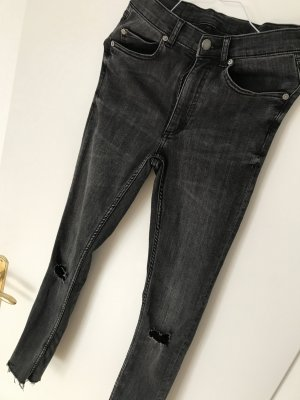 Cheap Monday High Waist Jeans 26 schwarz grau Skinny