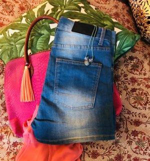 Cheap Monday High Waist Jeans Hotpants schöne Waschung S 36/38 30