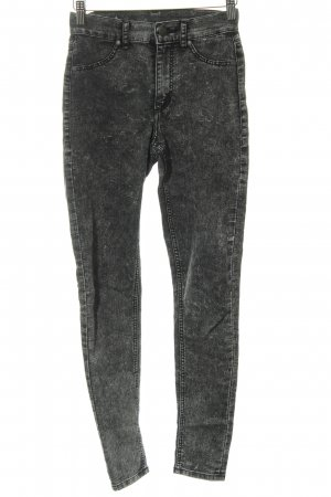 Cheap Monday Hoge taille jeans zwart gestippeld simpele stijl