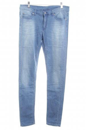 Cheap Monday Hüftjeans kornblumenblau-weiß Washed-Optik