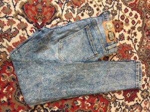Jeans taille haute multicolore