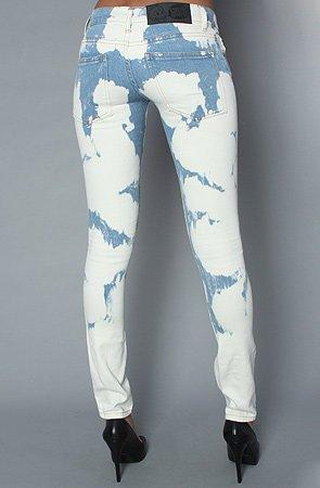 Cheap Monday Jeans Chemical Blue Zip Low 27/32