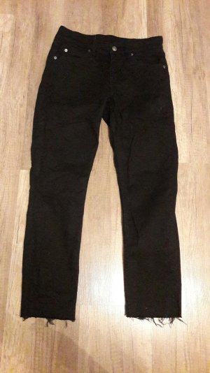 Cheap Monday Jeans Cropped Ankle Fransen Skinny Slim Fit Röhre