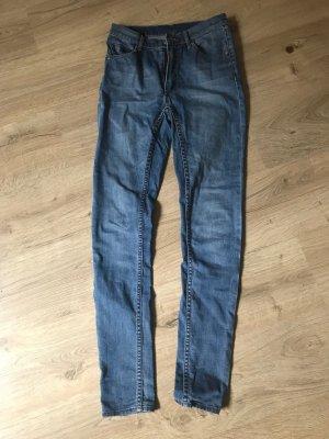 Weekday Hoge taille jeans blauw