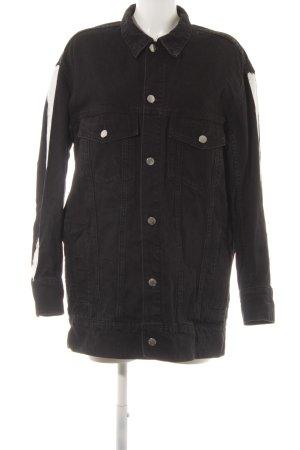 Cheap Monday Jeansjacke schwarz-weiß platzierter Druck Street-Fashion-Look