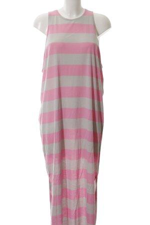 Cheap Monday Jerseykleid hellgrau-rosa Streifenmuster Casual-Look