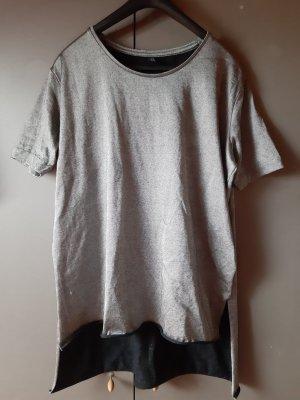 Cheap Monday Lang shirt zwart-zilver
