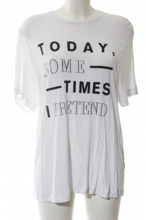 Cheap Monday Oversized Shirt white-black printed lettering casual look