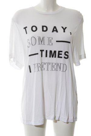 Cheap Monday Oversized shirt wit-zwart gedrukte letters casual uitstraling