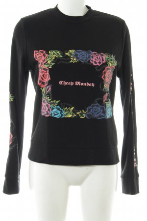 Cheap Monday Rundhalspullover Blumenmuster Casual-Look