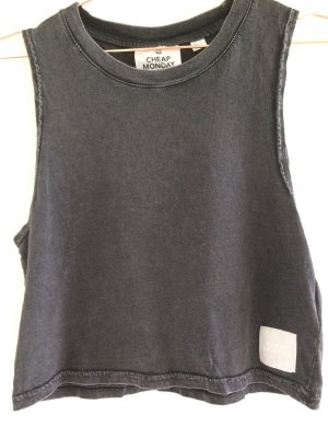Cheap Monday Cropped top antraciet-donkergrijs