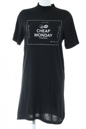 Cheap Monday Shirt Dress black printed lettering casual look