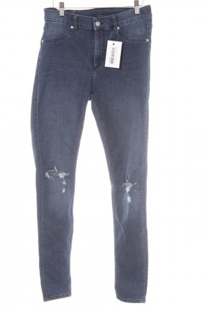 Cheap Monday Skinny Jeans dunkelblau Destroy-Optik