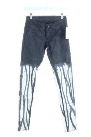 Cheap Monday Skinny Jeans dunkelgrau-weiß Farbverlauf extravaganter Stil