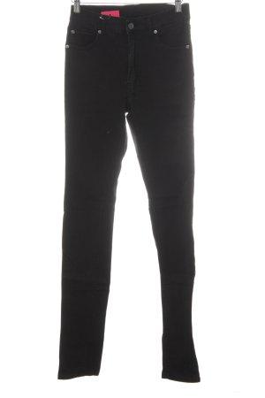 Cheap Monday Skinny Jeans schwarz Biker-Look
