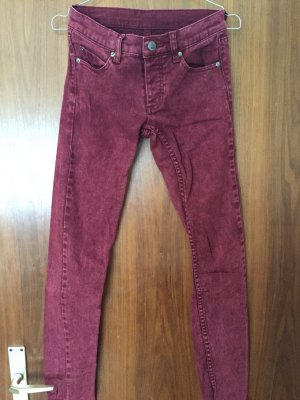 Cheap Monday Skinny Jeans Used Dunkelrot Gr. 26