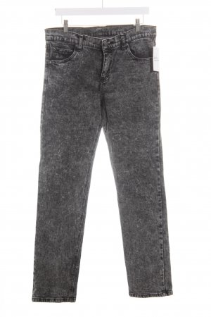 Cheap Monday Slim Jeans dunkelgrau-schwarz Batikmuster Street-Fashion-Look