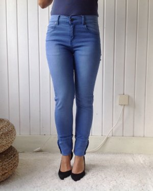CHEAP MONDAY Sommerliche Skinny Hose Tight Brilliant Blue hohe Taille 27/32