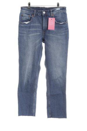 Cheap Monday Straight-Leg Jeans stahlblau Casual-Look