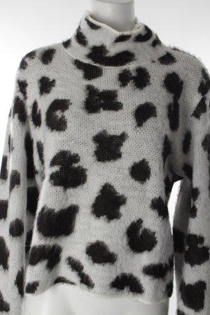 Cheap Monday Strickpullover schwarz-weiß Punktemuster
