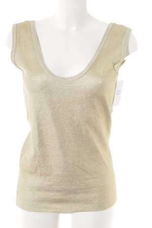 Cheap Monday Knitted Top gold-colored glittery