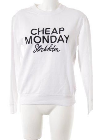 Cheap Monday Sweatshirt weiß-schwarz Casual-Look