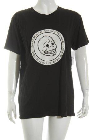 Cheap Monday T-Shirt schwarz platzierter Druck Casual-Look