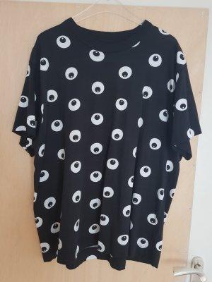 Cheap Monday T-Shirt Top Oberteil Augen Schwarz Weiß