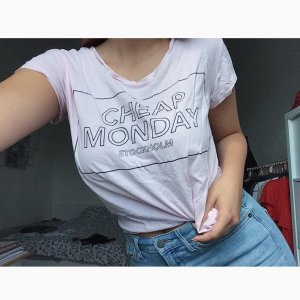 Cheap Monday T-Shirt Zartrosa