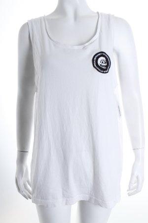 Cheap Monday Tanktop weiß-schwarz sportlicher Stil